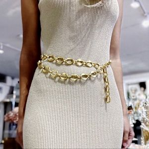 Authentic vintage Chanel gold chain belt